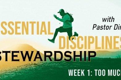Essential Disciplines: Stewardship (2021) – Week 1 – Too Much?